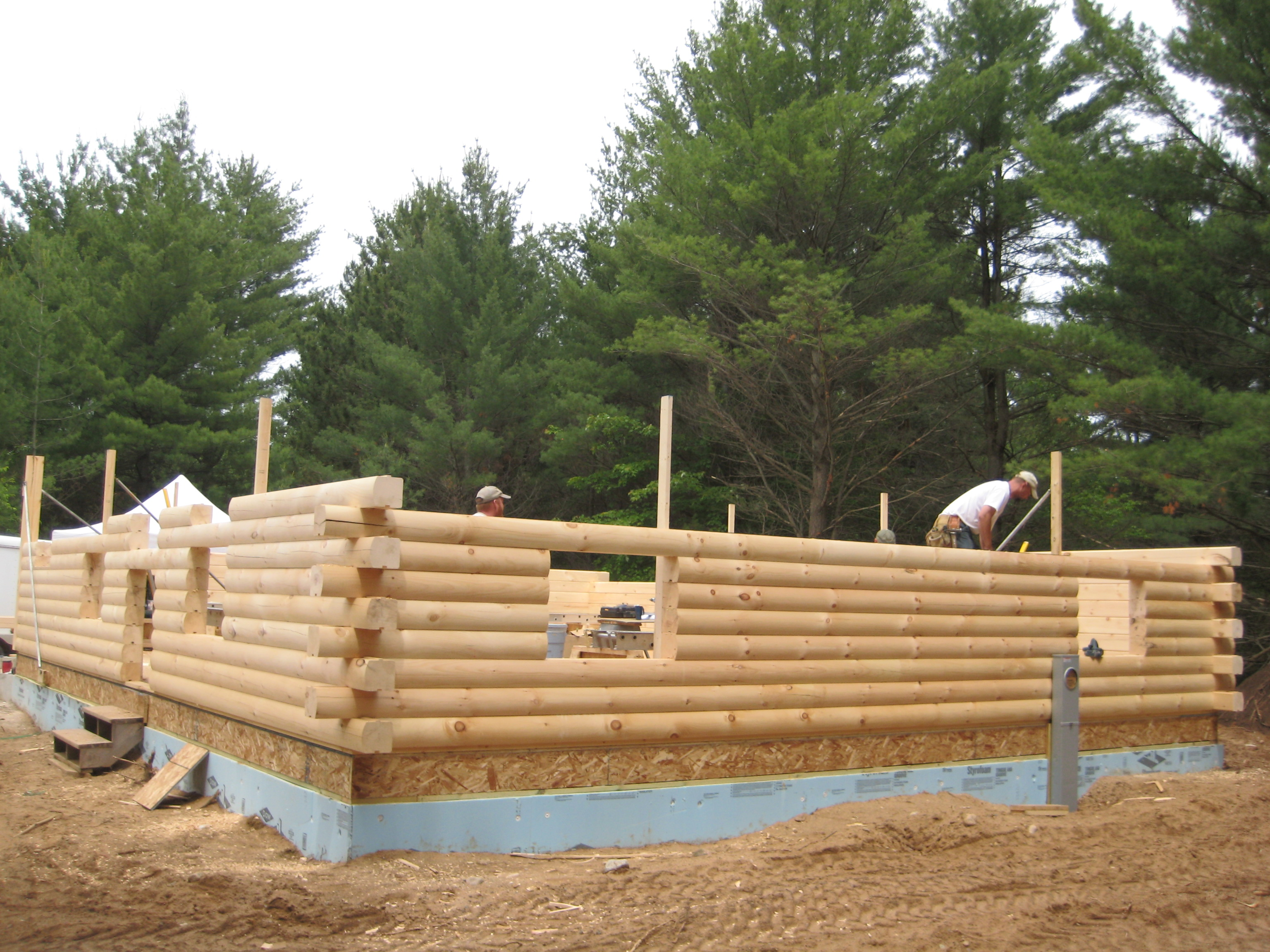 August 2012 great lakes carpentry for Butt and pass log home